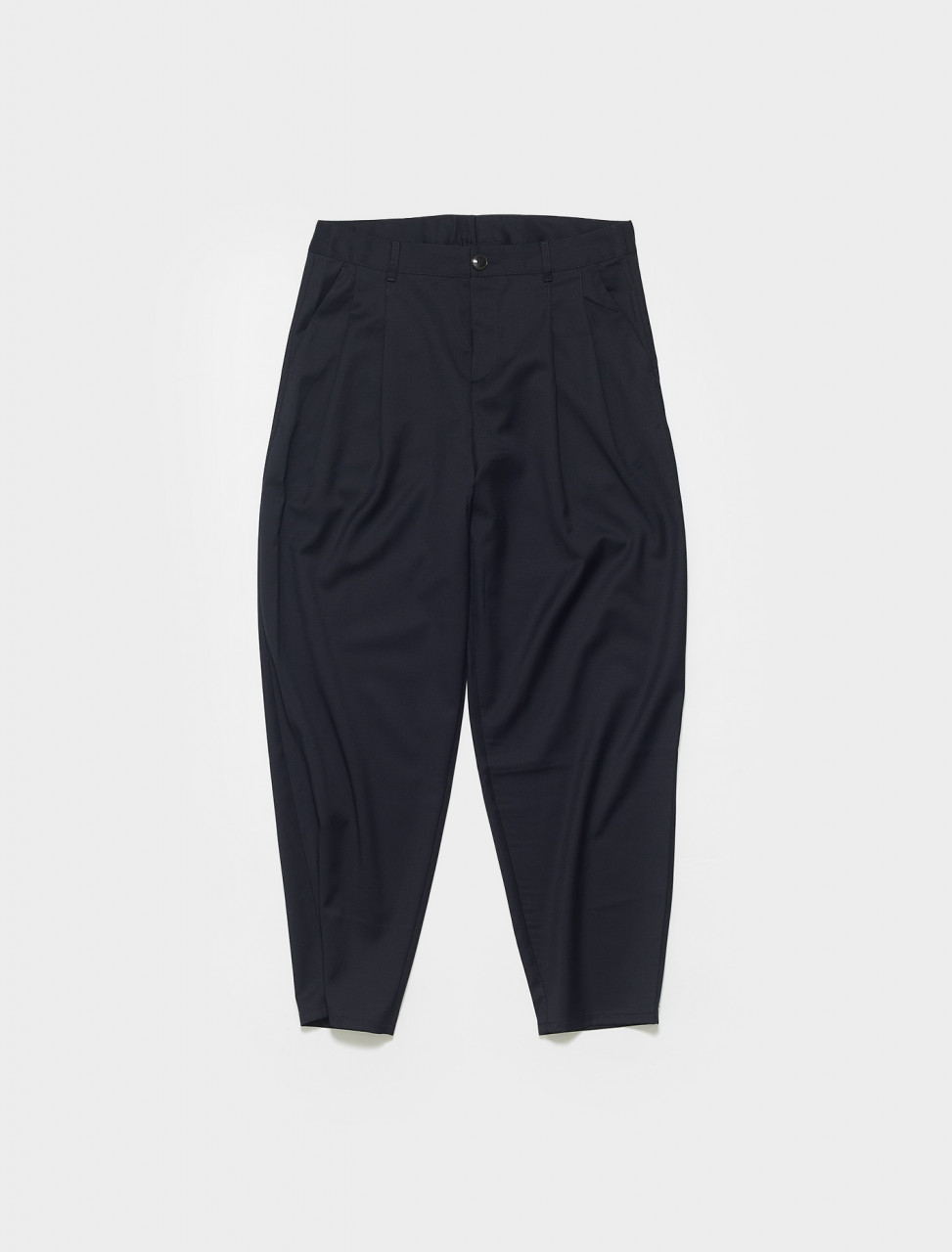 203-720-715 A KIND OF GUISE PLEATED WIDE TROUSERS MIDNIGHT NAVY