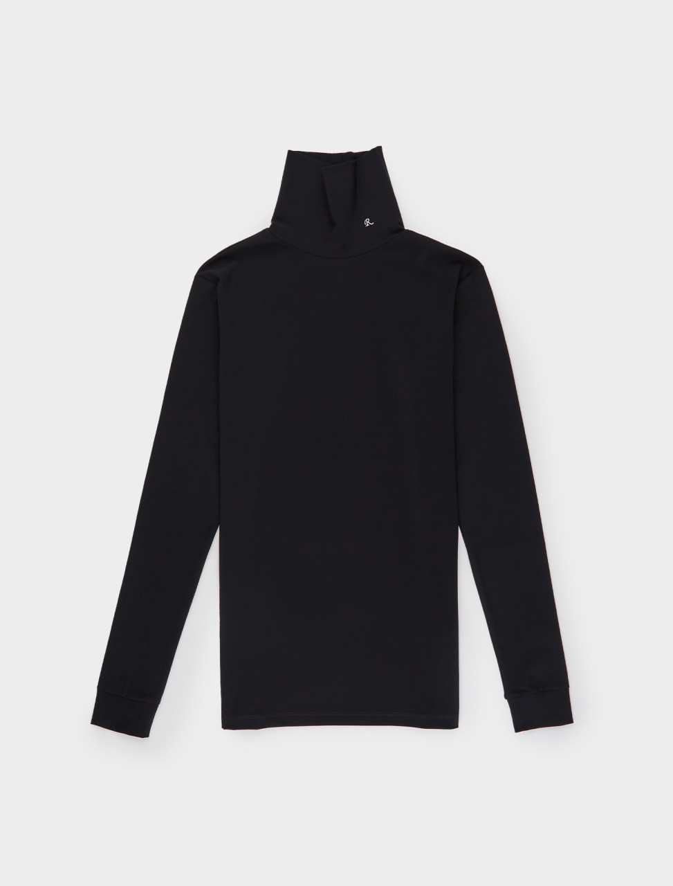162-202-151-19016-00099 RAF SIMONS SOUS PULL W STANDING UP COLLAR BLACK
