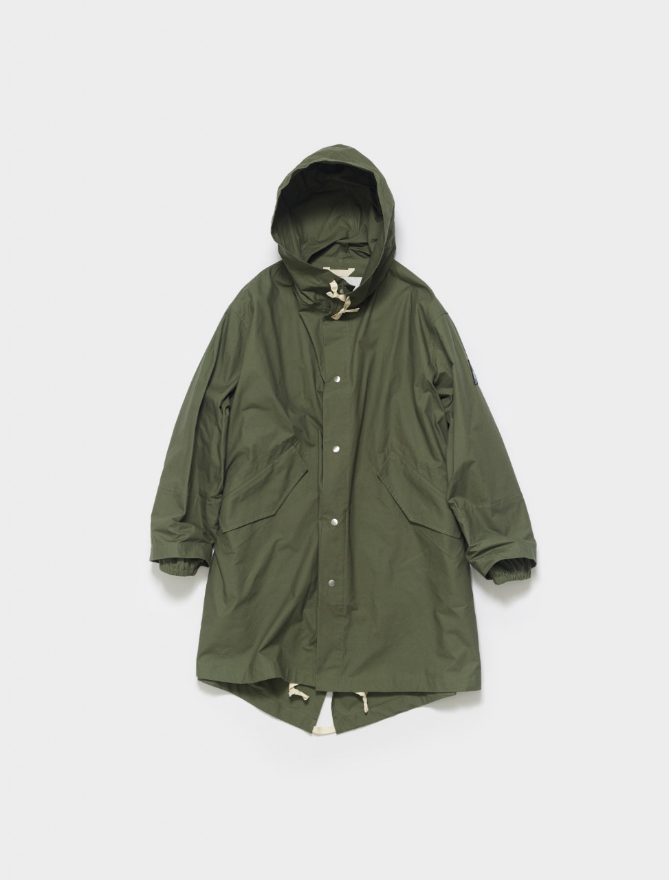 JPUS430005-MS242600-308 JIL SANDER COTTON PARKA IN DARK GREEN