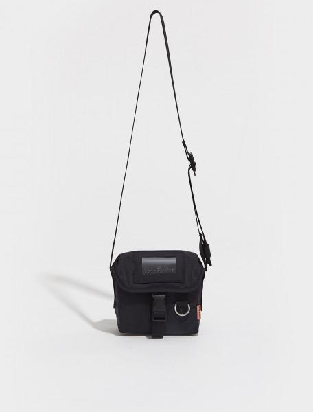 C10106 900 FN UX BAGS000073 ACNE STUDIOS MESSENGER MINI POST RIPSTOP BAG IN BLACK