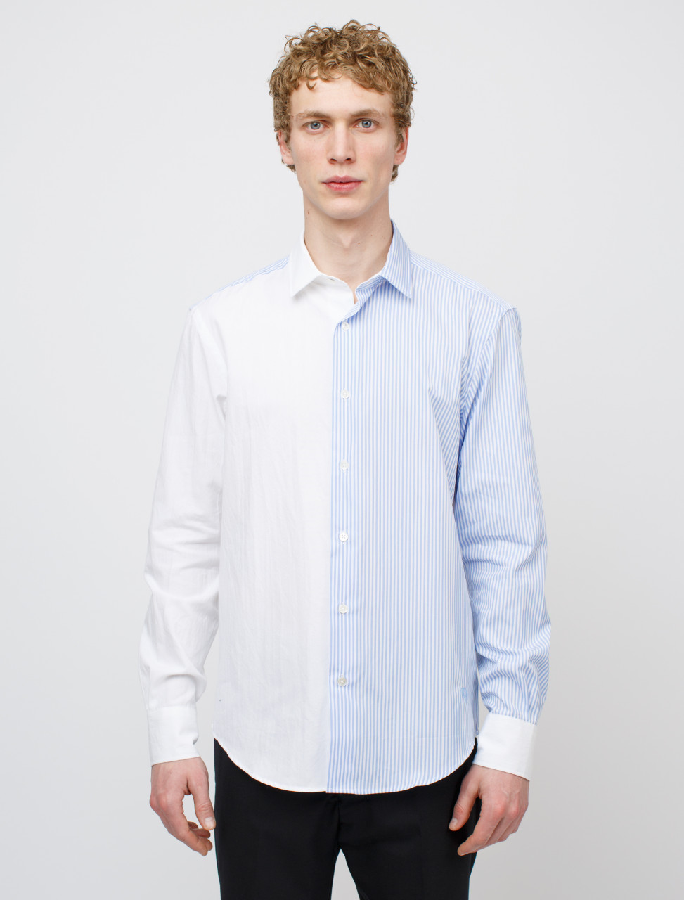 Panelled Striped Oxford Shirt
