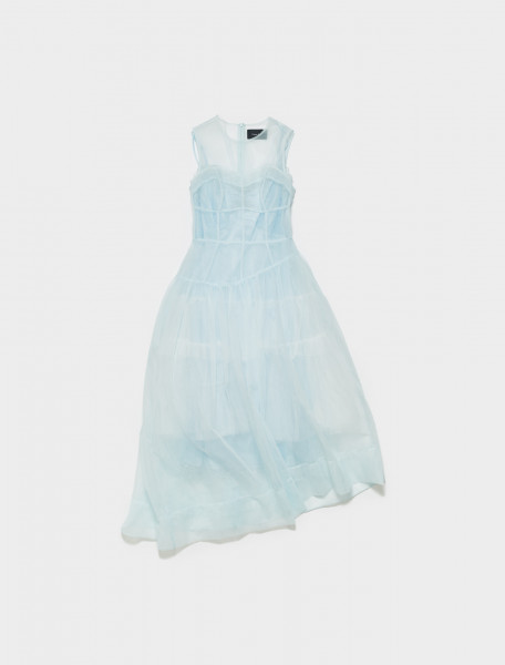 290-7039-0069 SIMONE ROCHA CORSET DRESS BLUE
