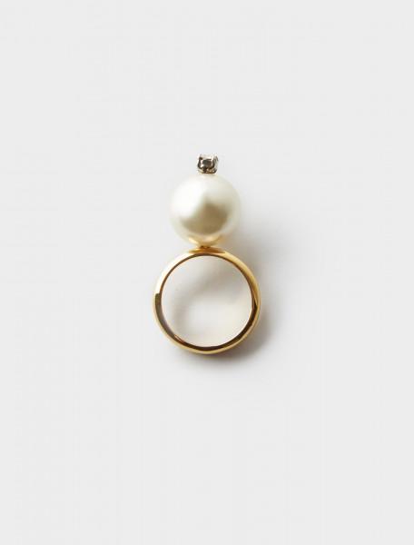 Simone Rocha Clear Pearl Ring