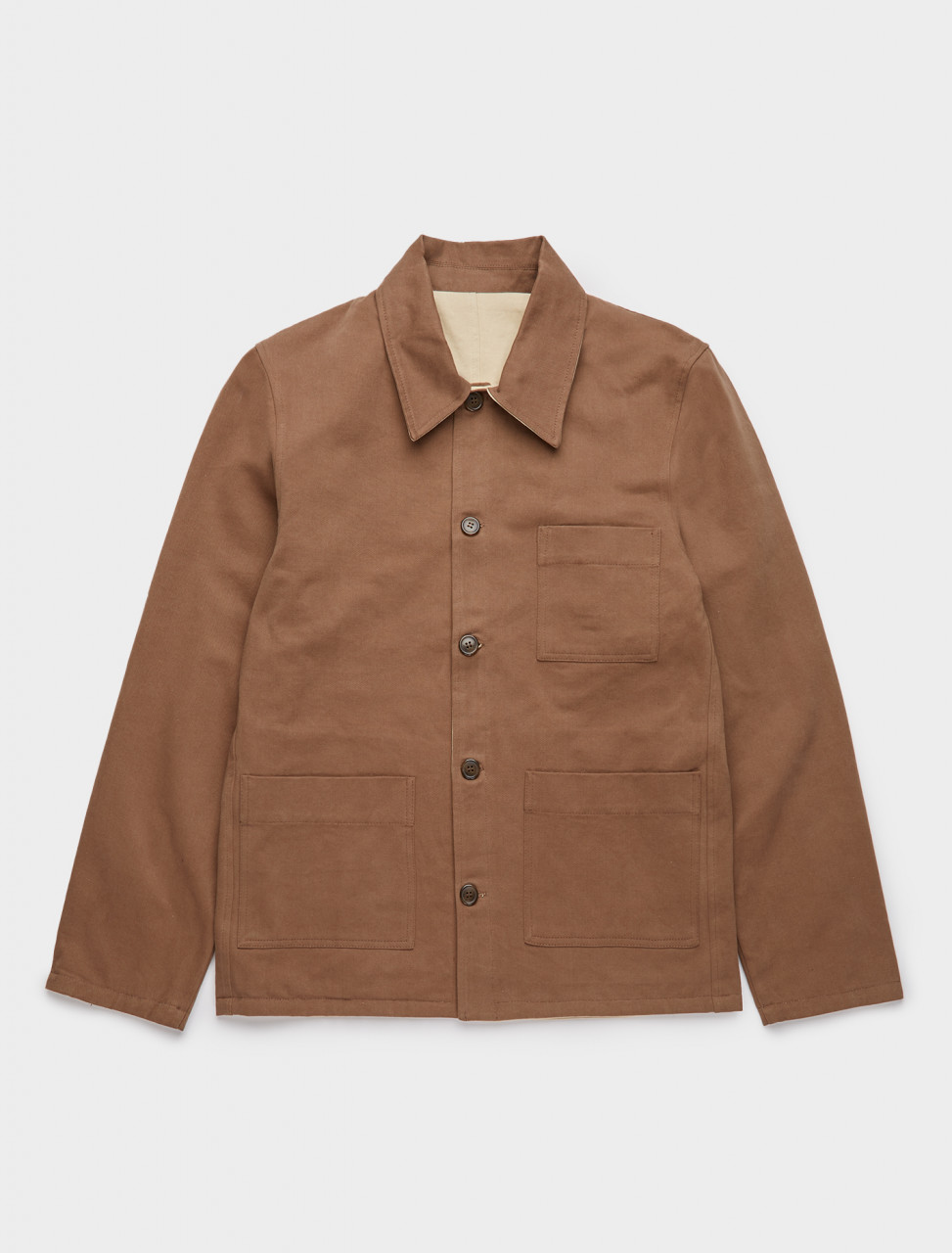 344-123456-001 ANOTHER ASPECT ANOTHER OVERSHIRT 1.0 BROWN BEIGE