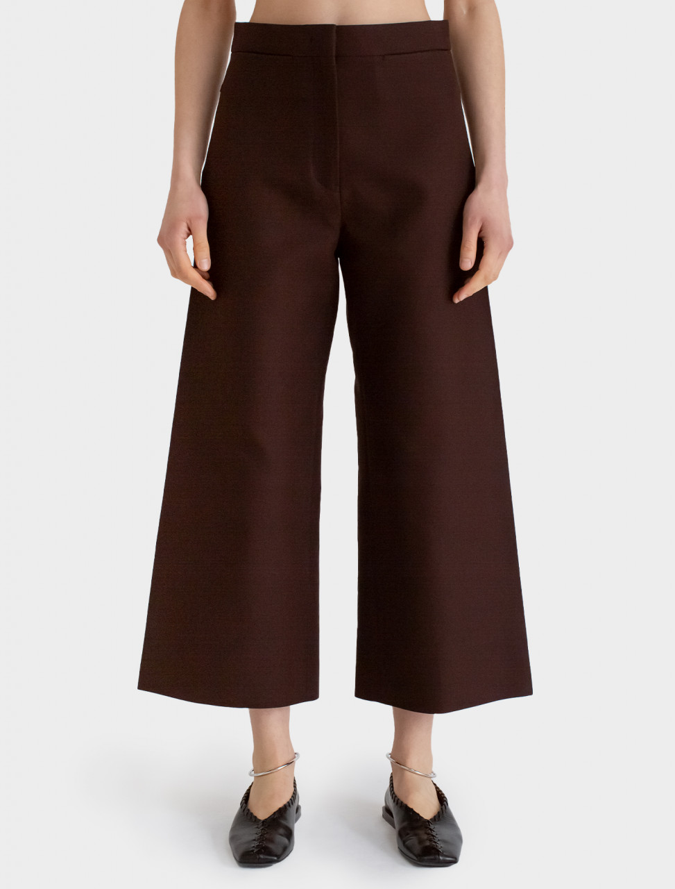 Cropped Trouser in Dark Purple