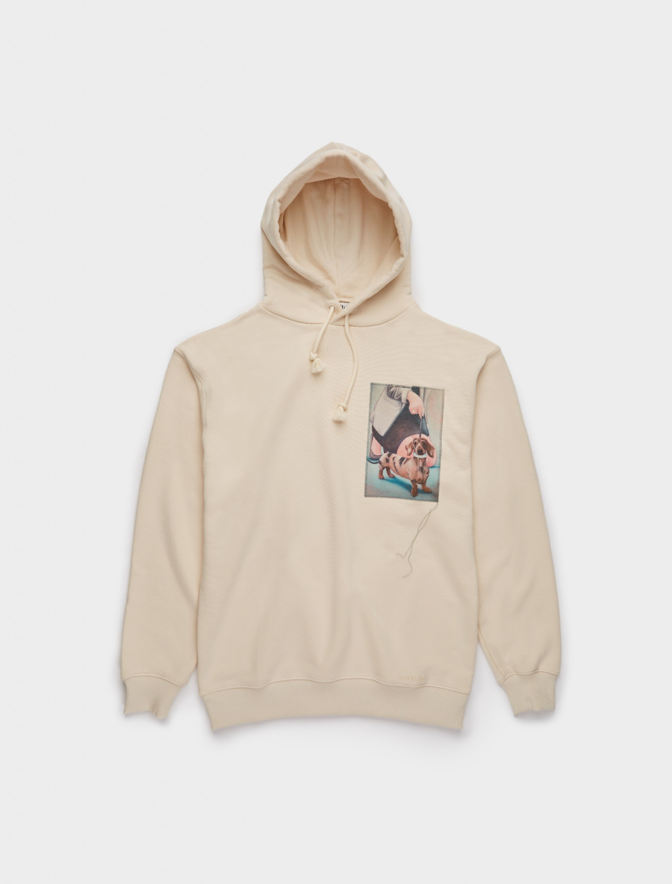 110-AI0066-AEI ACNE STUDIOS Dog-Patch Hooded Sweatshirt in Warm White