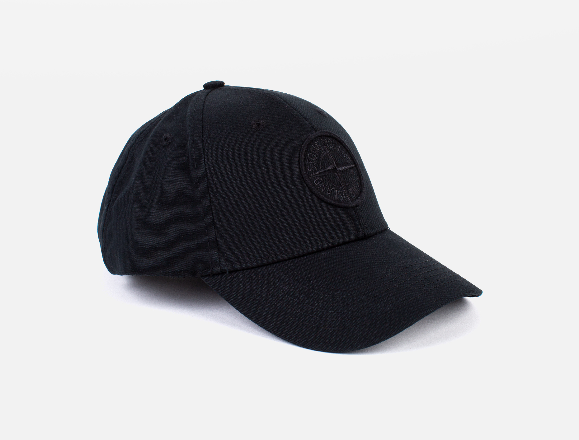 3fa213dc44385 Stone Island SI Black Baseball Cap