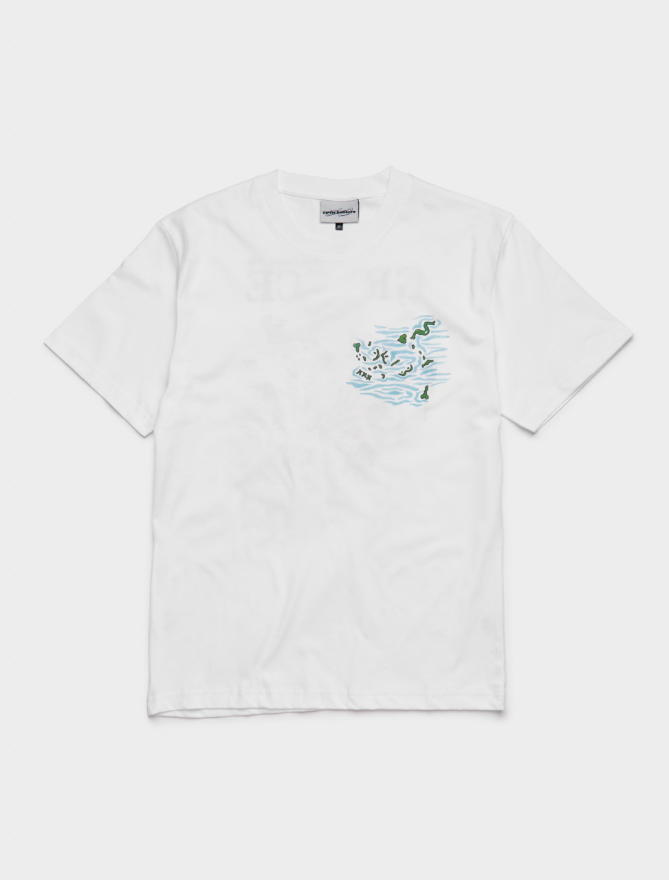 149-AW20TS006 CARNE BOLLENTE WELCUM TO GREECE T-SHIRT WHITE