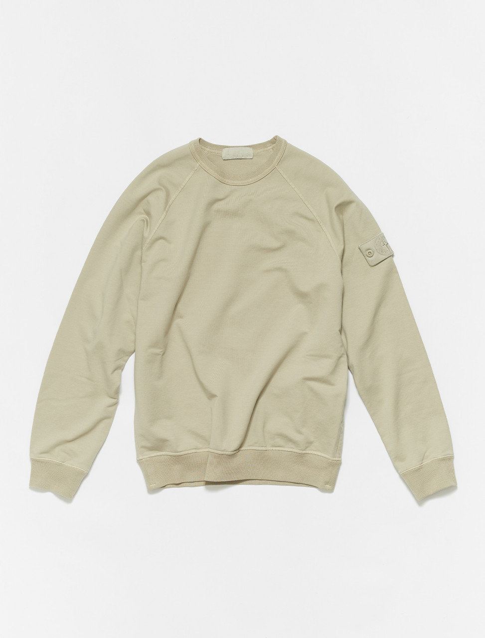 MO7415659F3-V0090 STONE ISLAND LONG SLEEVE SWEATSHIRT IN BEIGE