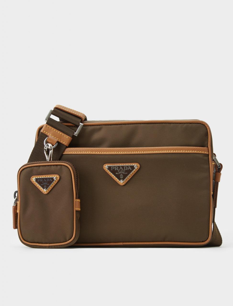 2VH048-064-F0W6K Prada Nylon School Bag with Removable Pouch in Caramel