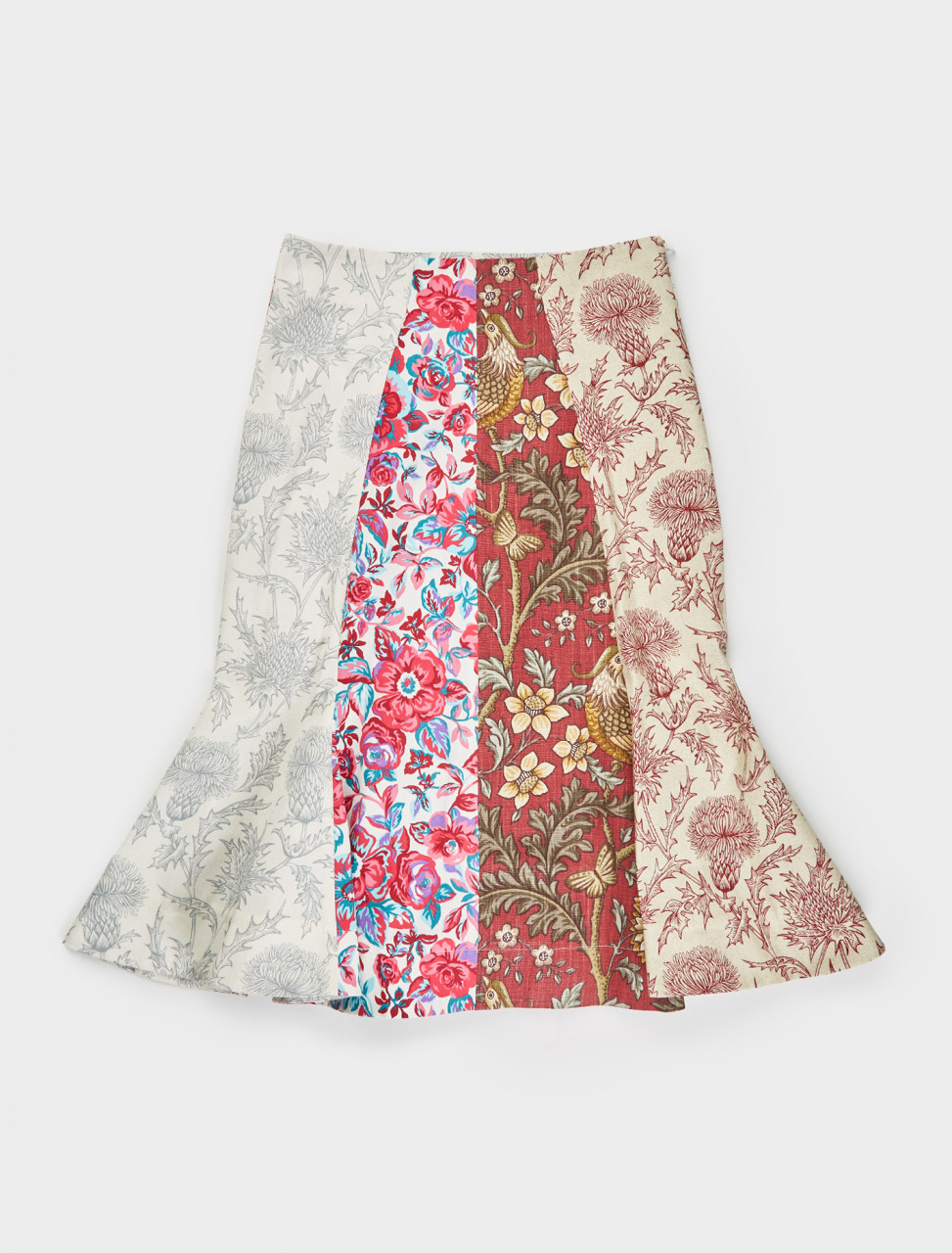 Marine Serre Regenerated Curtains Skirt in White Print