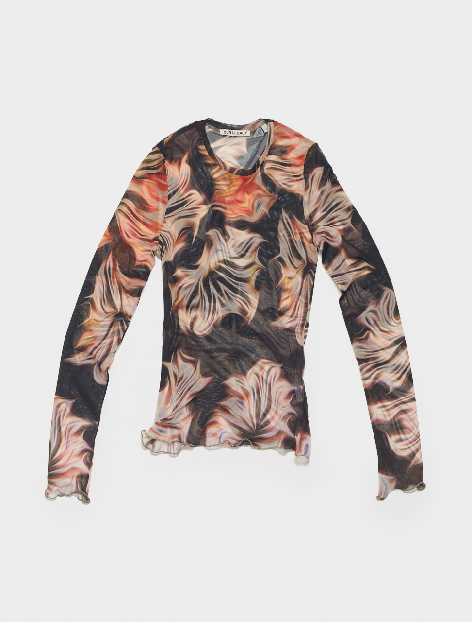 W2216SP OUR LEGACY SUPER SLIM LONGSLEEVE IN PLATIGYRA PRINT