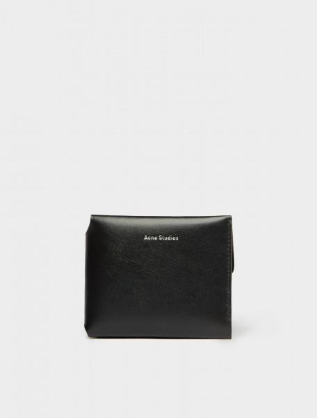 110-CG0097-900 ACNE STUDIOS TRIFOLD CARD WALLET BLACK