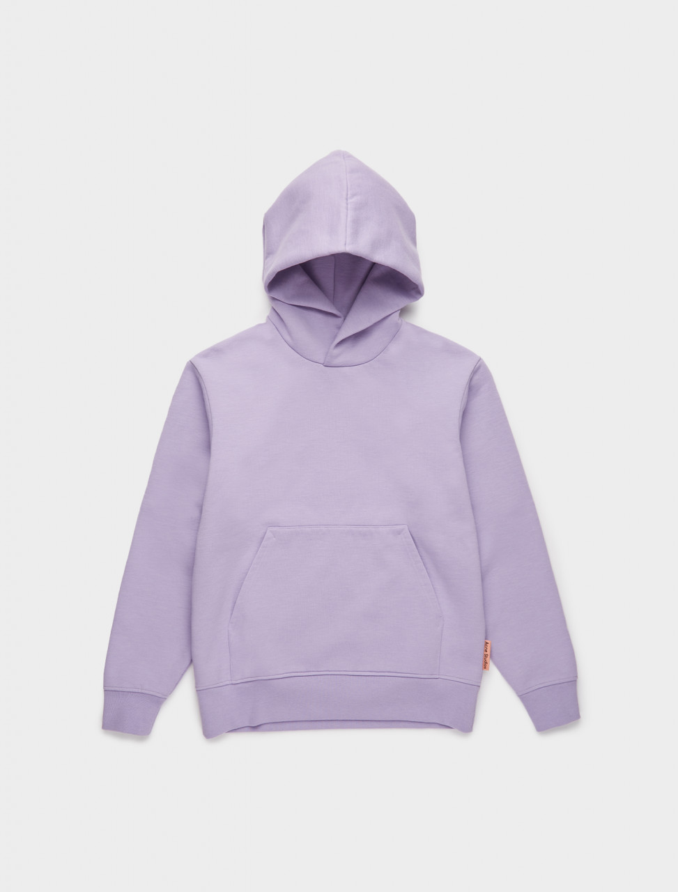 110-BI0080-ADK ACNE STUDIOS Classic Fit Hooded Sweatshirt in Light Purple