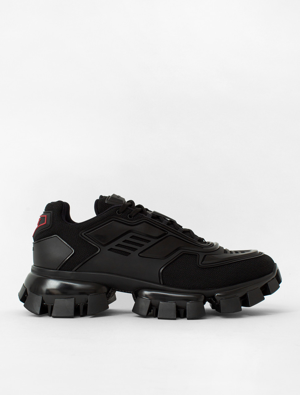 Prada Cloudbust Thunder Knit Menswear Sneaker in Black