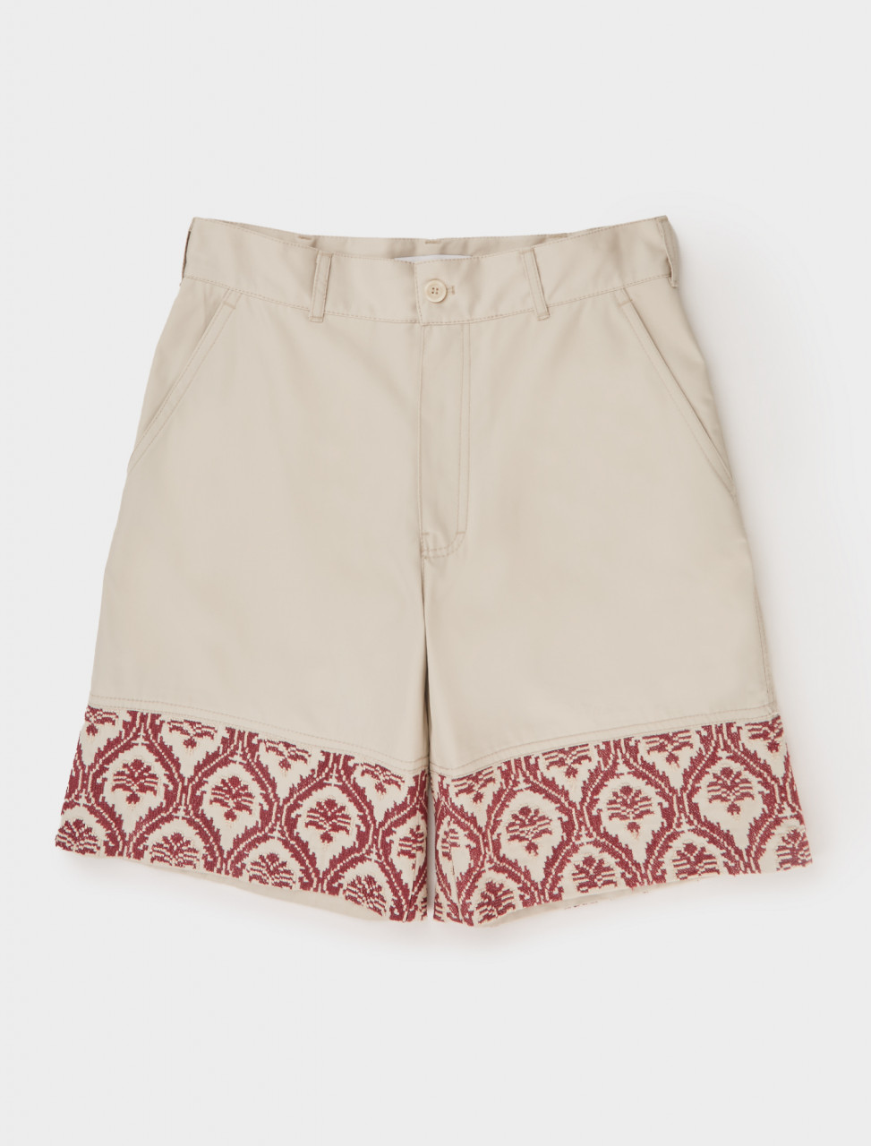 Front view of Adish Sawsanas Shorts in Beige