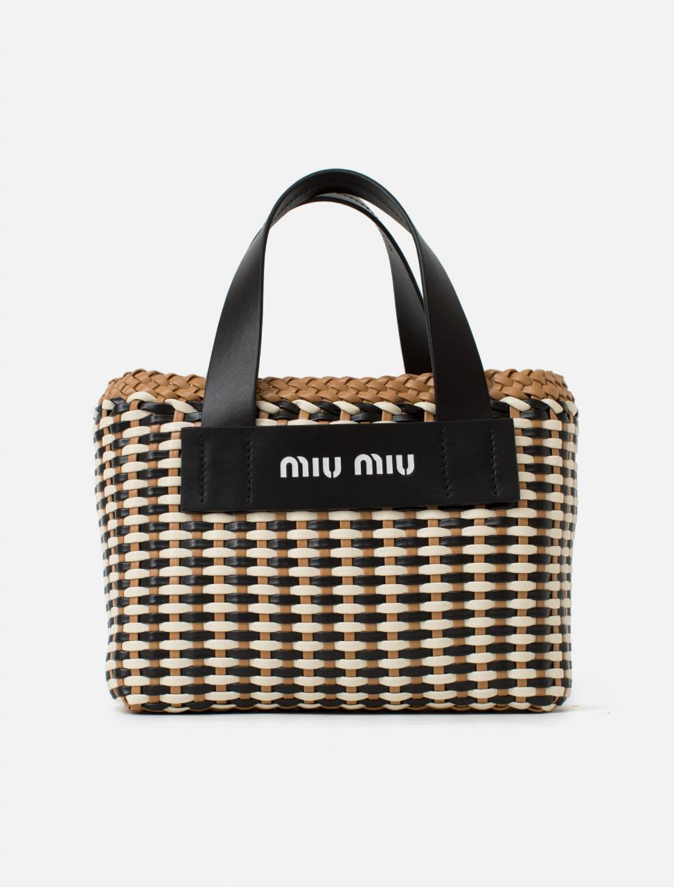 Miu Miu Woven Basket Bag