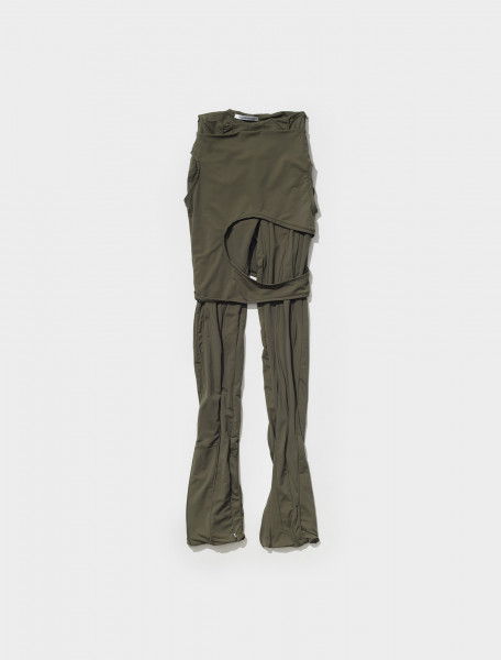 Luna Asymetric Panel Trouser with Skirt in Khaki