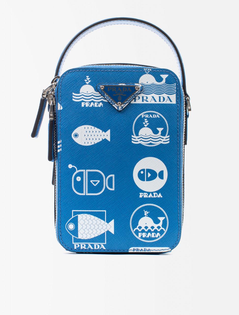 Saffiano Leather Whale Brique Bag