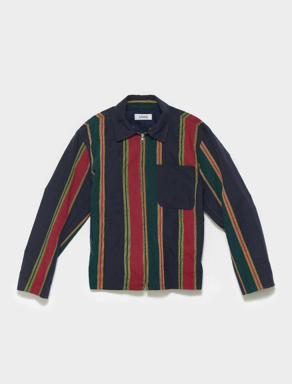 SS21-MSZJN001 ADISH MAJDALAWI STRIPES ZIP JACKET NAVY
