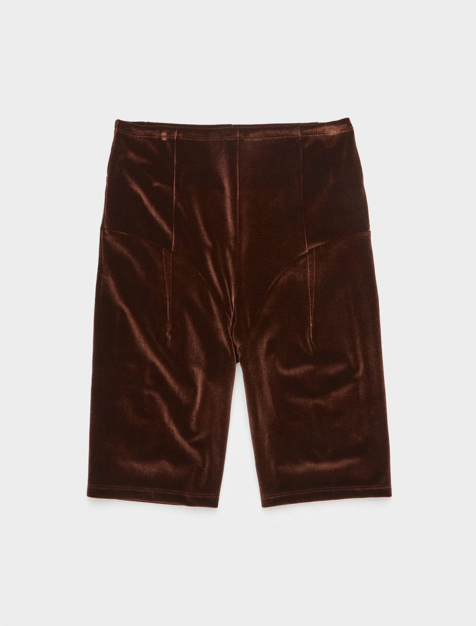 340-CAPS20SL19 SUPRIYA LELE VELVET JODPHUR CYCLING SHORTS CHOCOLATE