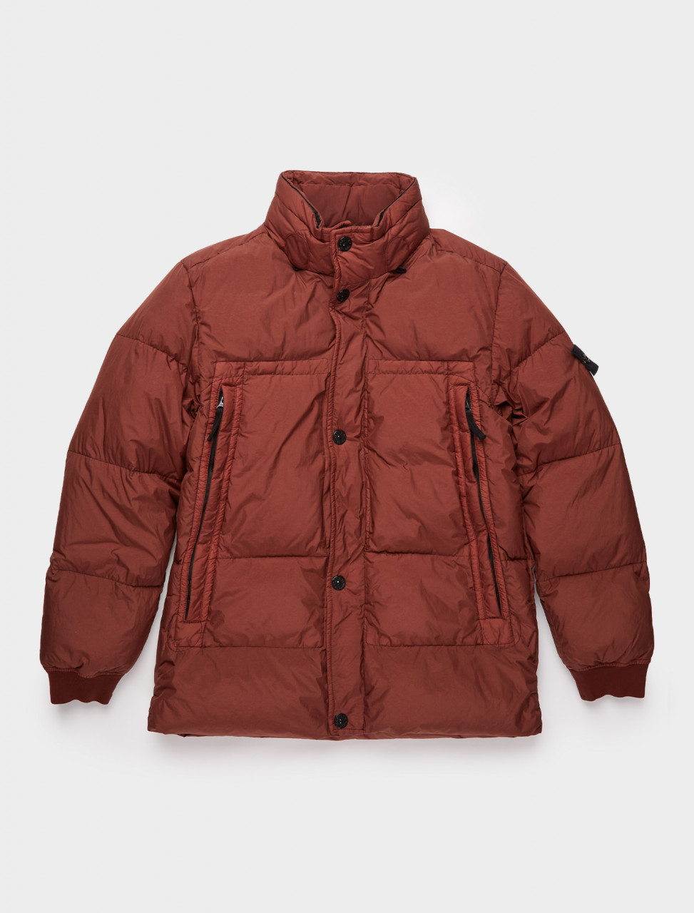 241-MO731540123-V0011 STONE ISLAND DOWN JACKET BROWN