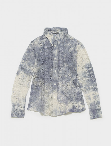 W22127TDCL OUR LEGACY 70S LINE SHIRT IN TIE DYE COTTON CROCHET