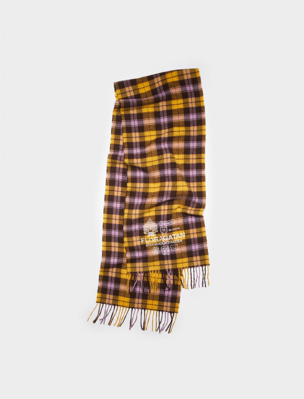 CA0115-CL2 ACNE STUDIOS PLAID PRINT SCARF YELLOW BROWN