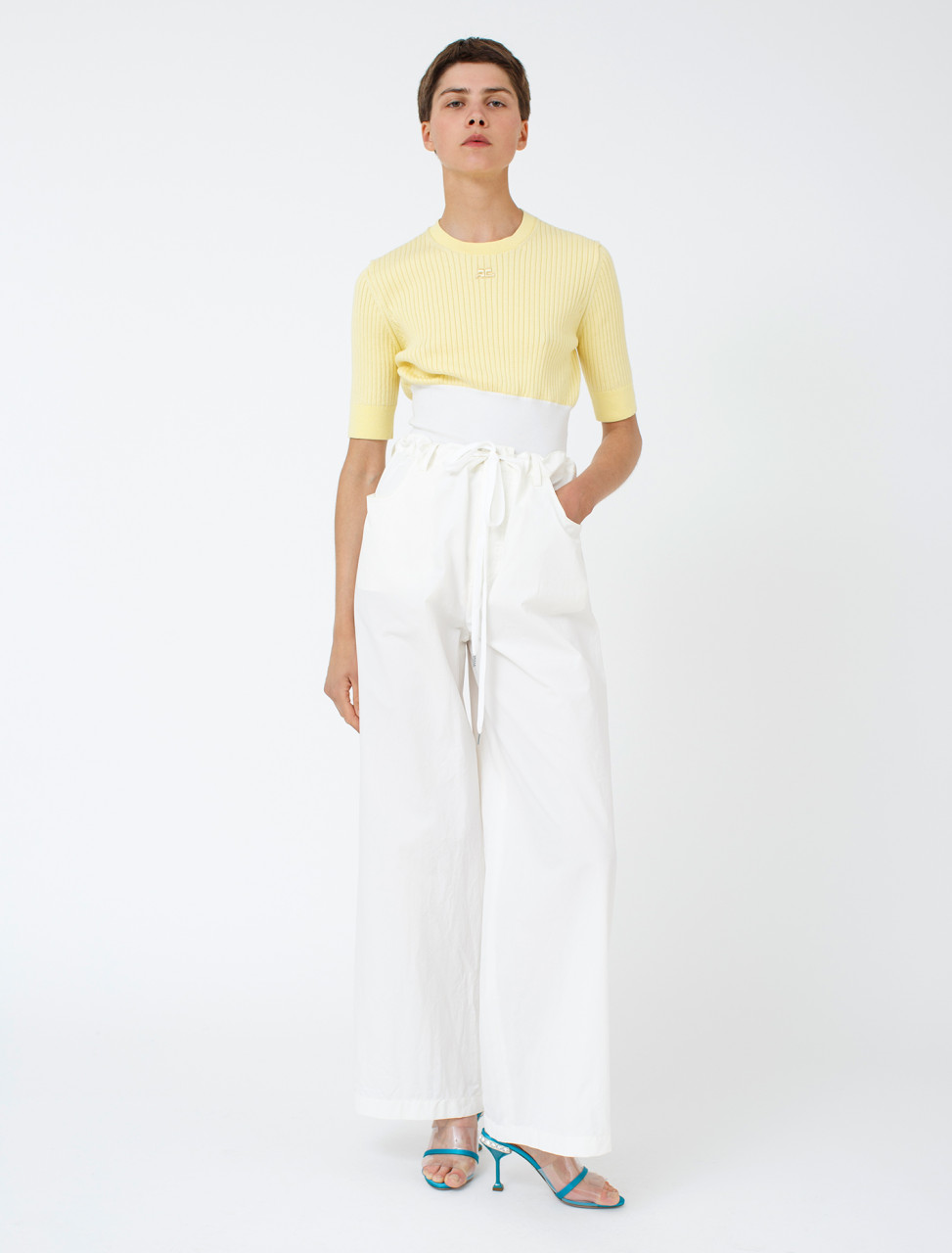 Trouser in Lily White