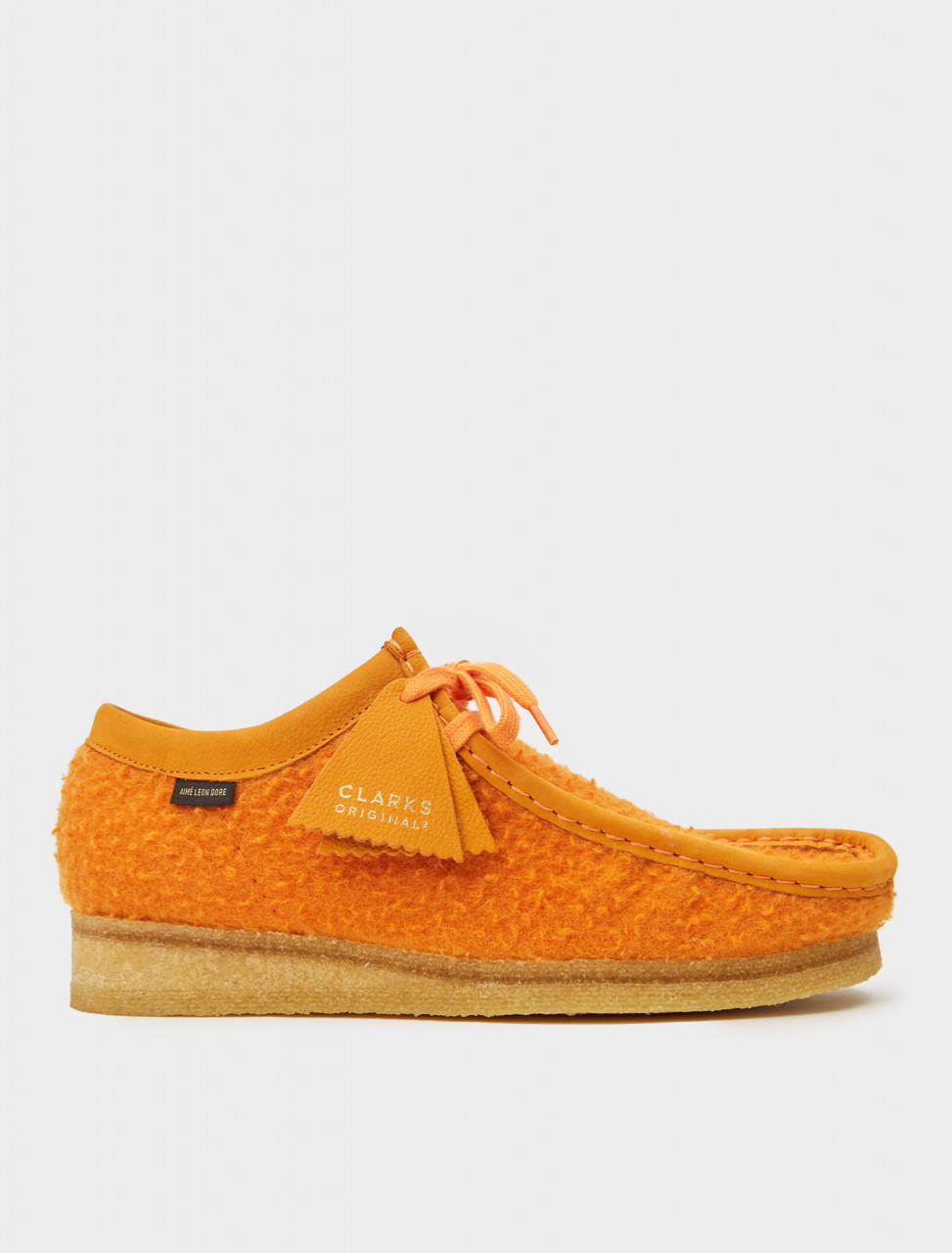 334-26160879 CLARKS AIME LEON DORE WALLABEE ORANGE WOOL