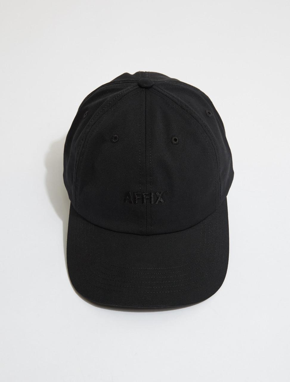 SS21AC11-Black AFFIX STANDARD LOGO CAP IN BLACK