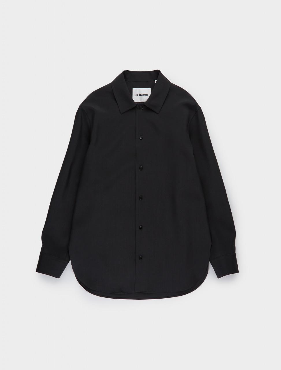 130-JSMR742226-MR203400-001 JIL SANDER Wool Shirt in Black