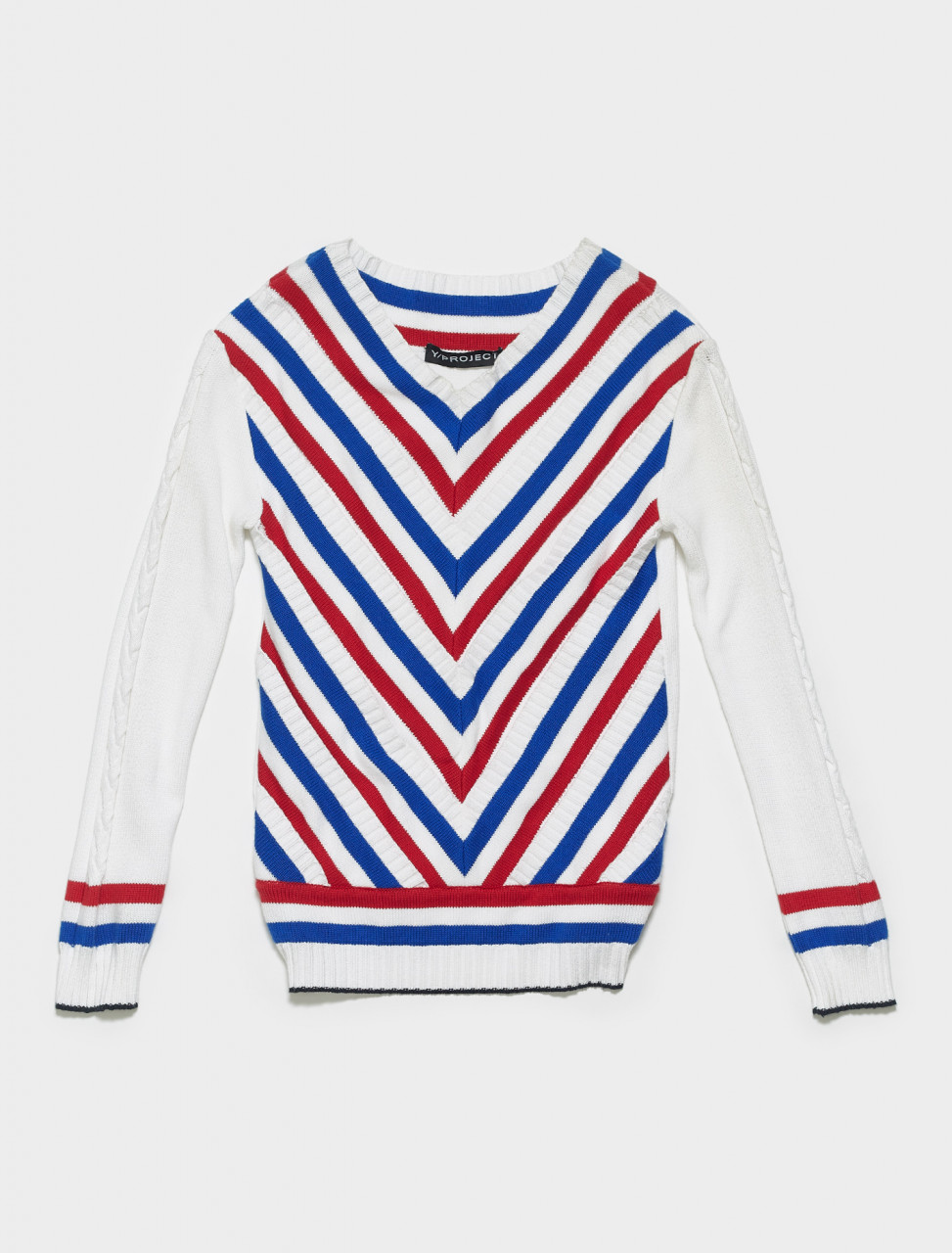 MPULL20-S14M102 Y PROJECT V PULLOVER IN WHITE