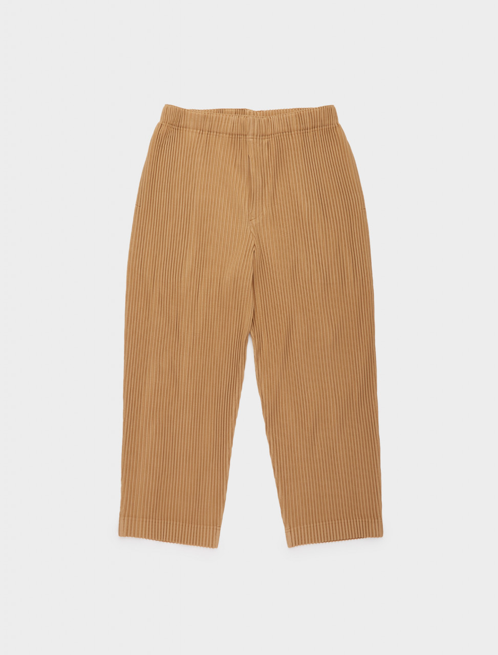 255-HP08JF131-41 ISSEY MIYAKE HOMME PLISSE PLEATED TROUSERS WALNUT BEIGE