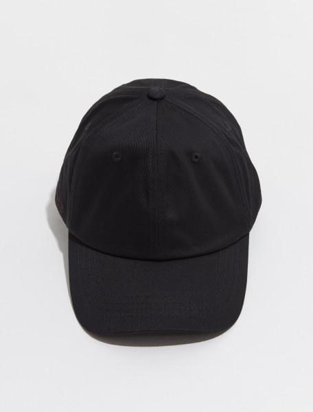 C40174 900 FN UX HATS000128 ACNE STUDIOS CARLIY TWILL CAP IN BLACK