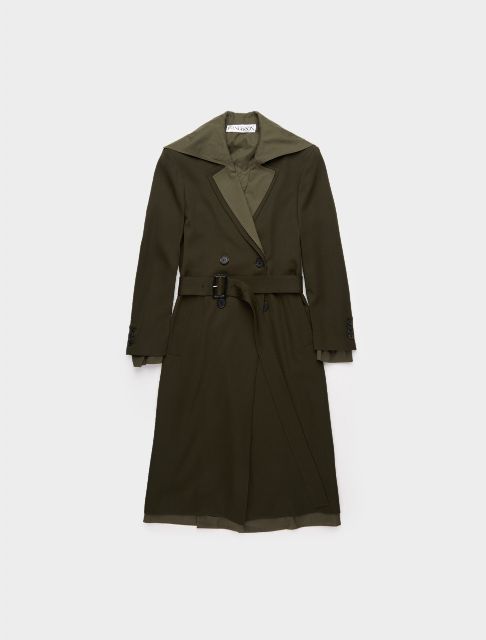 179-CO0059-PG0011-575 JW ANDERSON DOUBLE LAYERED BOLTED COAT
