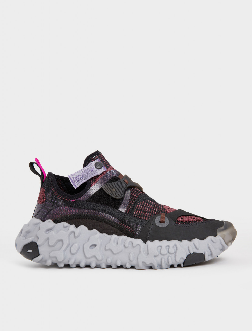 149-CD9664-002 NIKE ISPA OVERREACT Flyknit Black Diffused Blue Shadowberry Earth
