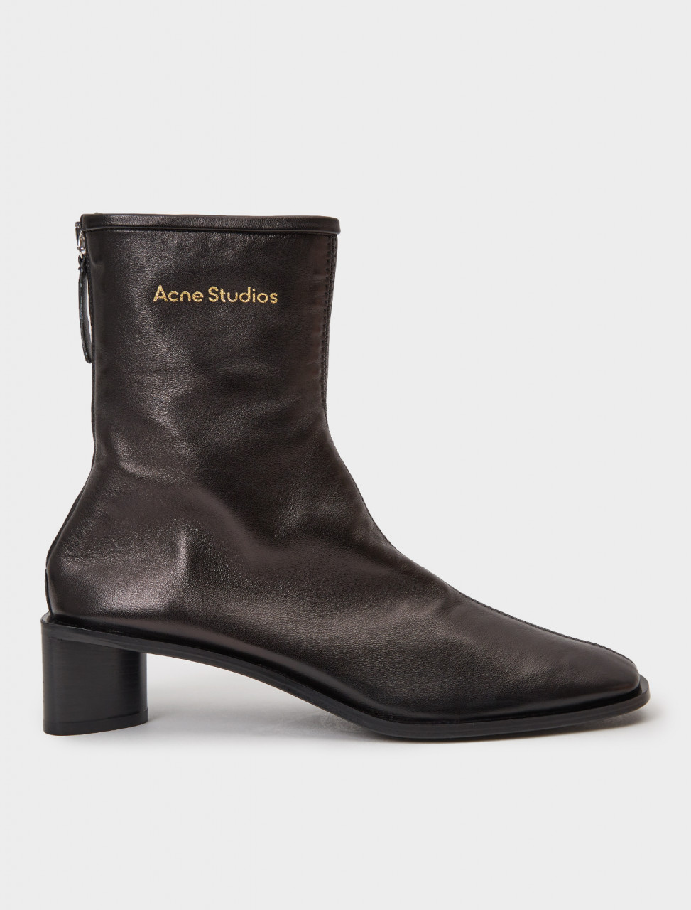 AD0313-AX0 ACNE STUDIOS SQUARE TOE BOOTIES BLACK