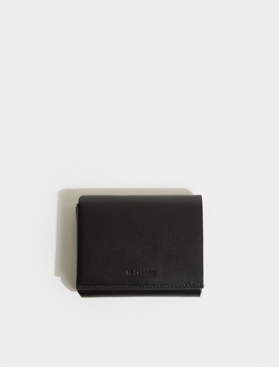 JSMS840112-MSS0008N-001 JIL SANDER ORIGAMI WALLET IN BLACK