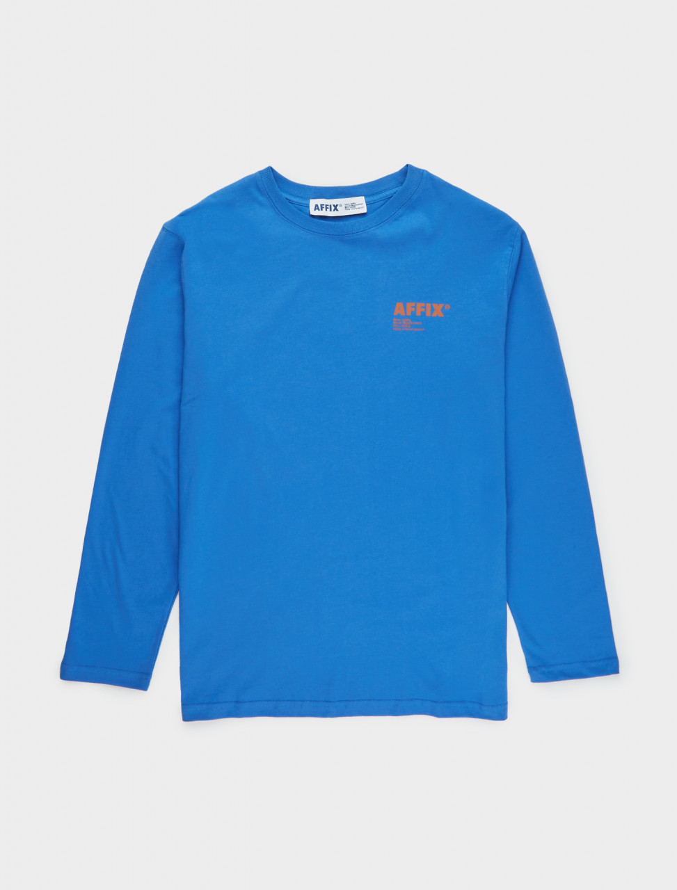 347-AW20TS01-C AFFIX Standardised Logo Long Sleeve T-Shirt in Cobalt