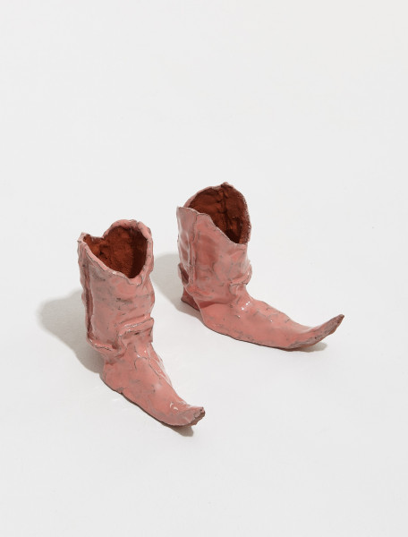 BOOTS PINK HOT LEGS COWBOY BOOT CANDLE HOLDERS IN PINK