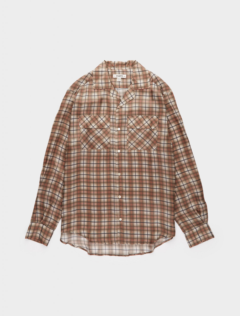 261-PHFW20-S03 PHIPPS LONG SLEEVE HOLLYWOOD SHIRT LIGHT FIELD PLAID