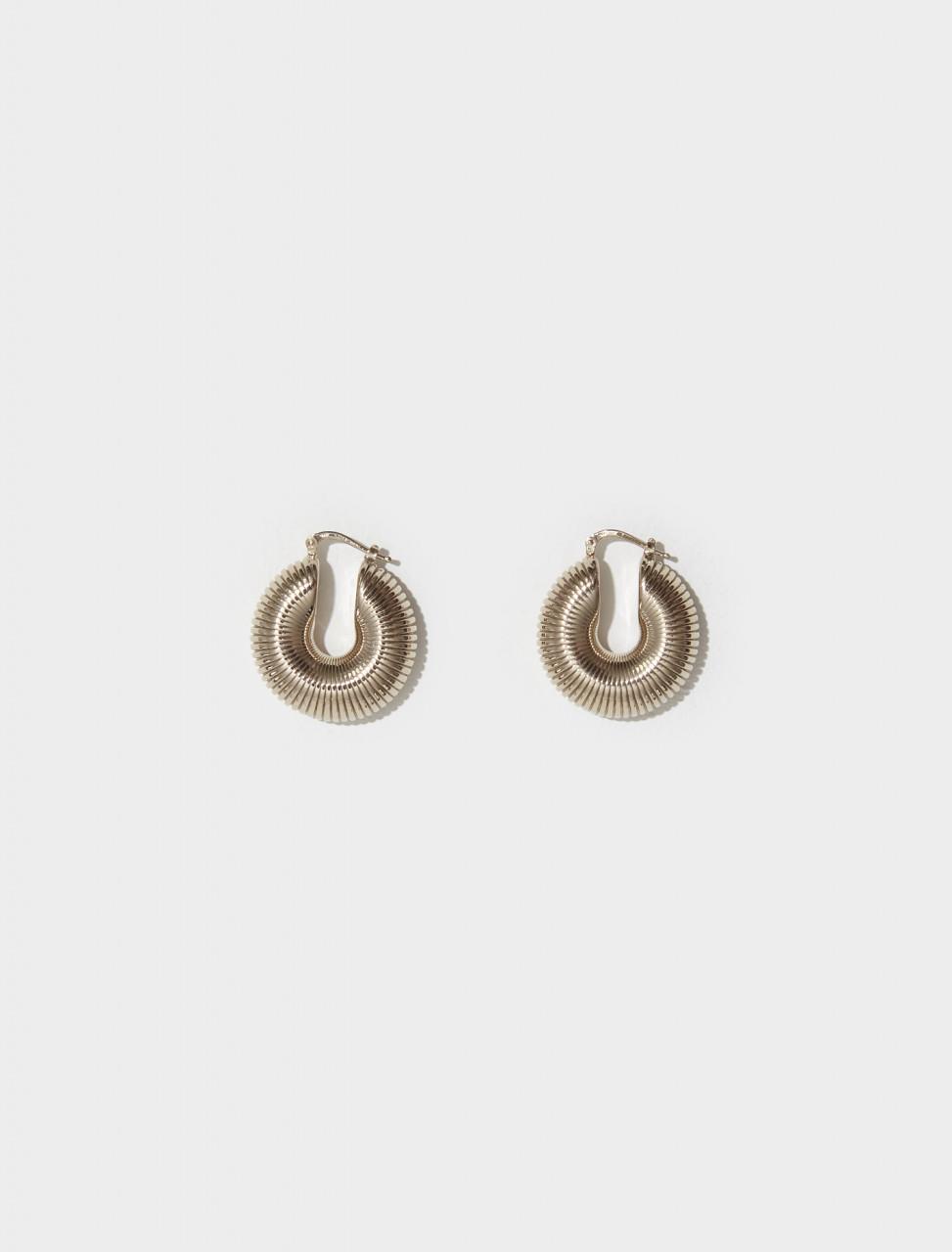JSPT837215_WTS84002_710 JIL SANDER SNAIL EARRINGS 3 IN GOLD