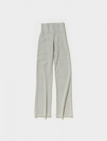 W4216DG OUR LEGACY DRAFT KNITTED TROUSERS IN GREY LIZARD RIB