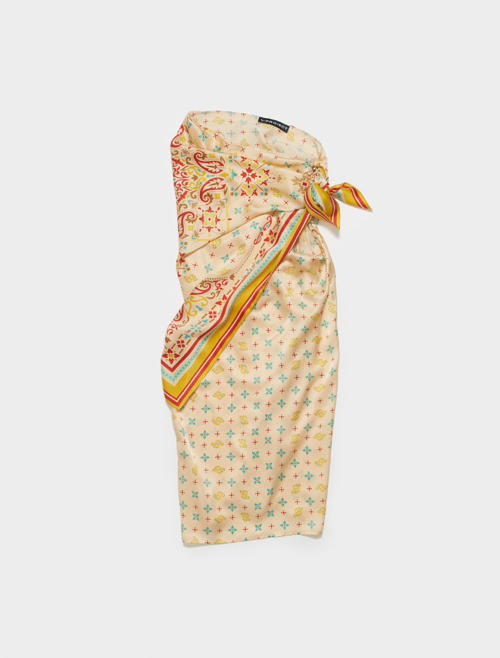 WSKIRT56-S20 Y PROJECT CONVERTIBLE SCARF SKIRT IN PEACH