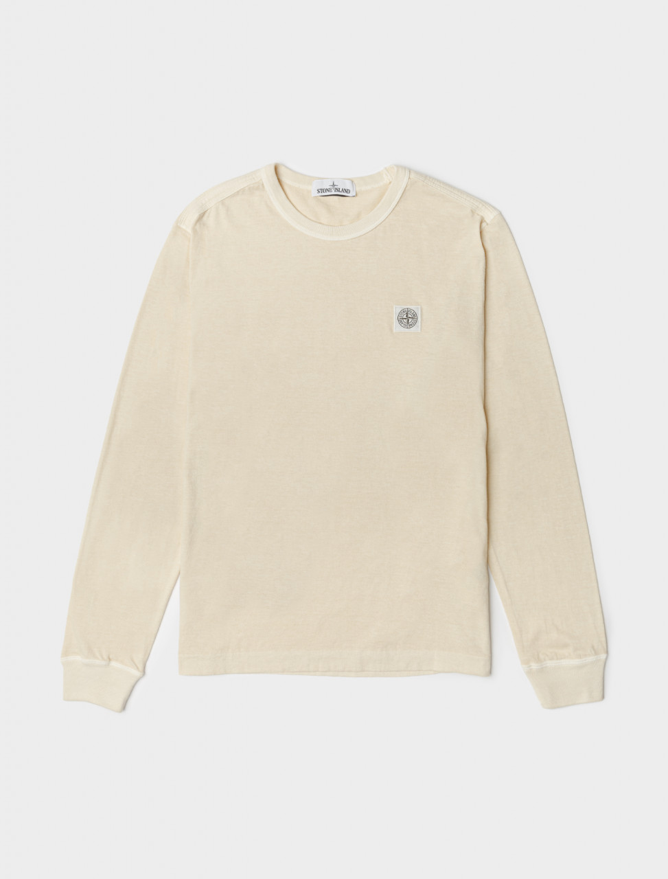 Fissato Dyed Long Sleeve T-Shirt in Beige
