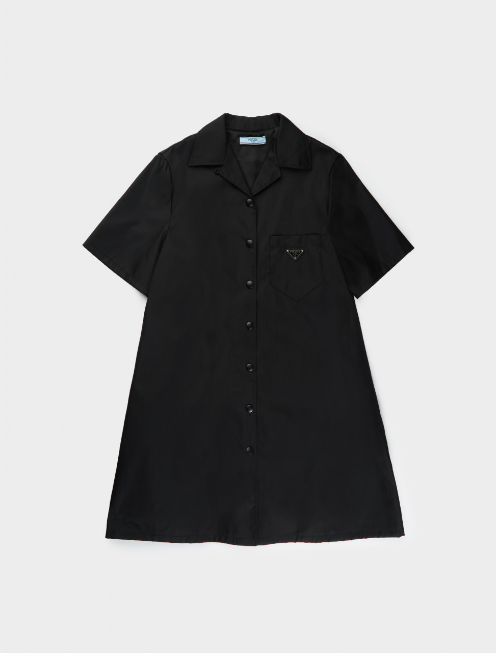 Prada Re-Nylon Shirt Dress in Black