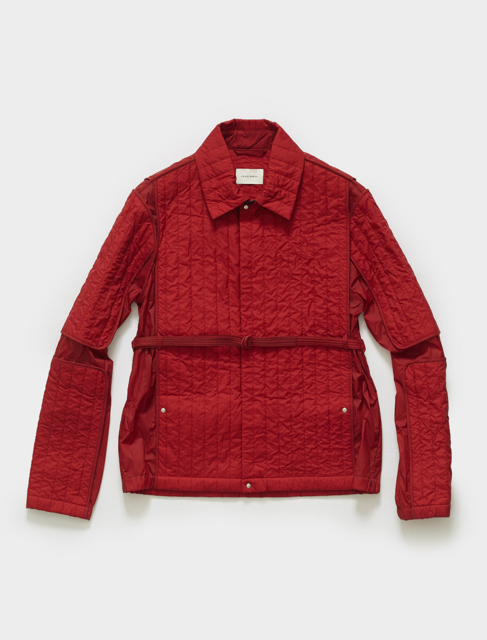 CGSS21CWOJKT09 CRAIG GREEN QUILTED SKIN JACKET IN RED