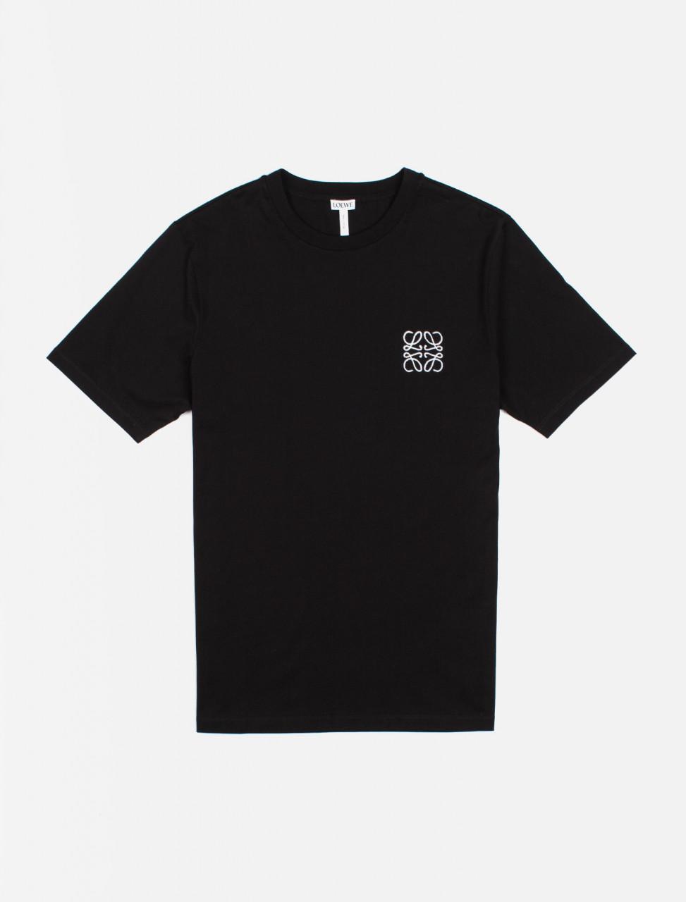 251-H526341XAI LOEWE ANAGRAM T-SHIRT BLACK