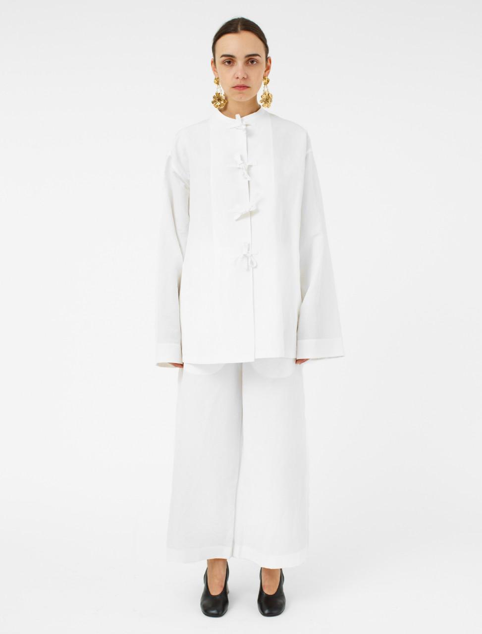 Cotton Linen Pyjamas in Natural